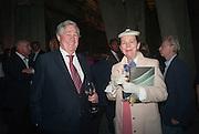 GEOFFREY ROBINSON; DR. ELIZABETH MACFARLAND, The Tanks at Tate Modern, opening. Tate Modern, Bankside, London, 16 July 2012