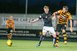 Falkirk's Craig Sibbald and Alloa Athletic's Burton O'Brien. <br /> Falkirk 5 v 0 Alloa Athletic, Scottish Championship game played at The Falkirk Stadium. © Ross Schofield