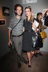 GRETA BELLAMACINA and ? at Harper's Bazaar & Viva Model Management London opening of a Self-Portraits exhibition at the Moretti Galery, Ryder Street, London on 3rd September 2013.