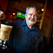 Fadó Irish Pub operating partner Scott Neff poses with an Irish Whiskey drink made with Tullamore Dew Irish Whiskey.  Fadó Irish Pub is located at Easton Town Center 4022 Townsfair Way, Columbus, OH (photo by Leonardo Carrizo)