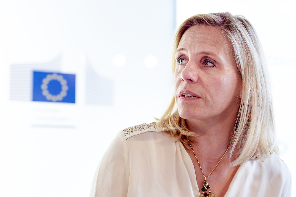 04 June 2015 - Belgium - Brussels - European Development Days - EDD - Growth - From cotton production to ethical clothing and fashion - Tina Stridde<br /> Managing Director of the Aid by Trade Foundation © European Union