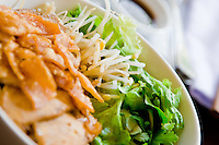 Cau Lau is a delicious noodle dish and local speciality of Hoi An, Vietnam.
