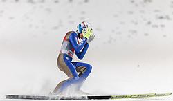 06.01.2016, Paul Ausserleitner Schanze, Bischofshofen, AUT, FIS Weltcup Ski Sprung, Vierschanzentournee, Bischofshofen, Finale, im Bild Johann Andre Forfang (NOR) // Johann Andre Forfang of Norway reacts after his 1st round jump of the Four Hills Tournament of FIS Ski Jumping World Cup at the Paul Ausserleitner Schanze in Bischofshofen, Austria on 2016/01/06. EXPA Pictures © 2016, PhotoCredit: EXPA/ JFK