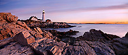 Sunrise Starts Another New England Day At The Portland Head Light, Portland, Maine, USA