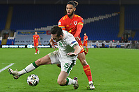 Football - 2020/2021 UEFA Nations League - Group B4 - Wales vs Republic of Ireland - Cardiff City Stadium<br /> <br /> Tyler Roberts of Wales & Kevin Long Republic of Ireland <br /> in a match played without fans<br /> <br /> COLORSPORT/WINSTON BYNORTH