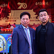 Chu Ting Tang of London Chinatown Chinese  Association and community attend the Celebration of the Moon festival - The big feast for the chinese community and the 70th Anniversary of China at Chinatown Square on the 15th September 2019, London, UK.