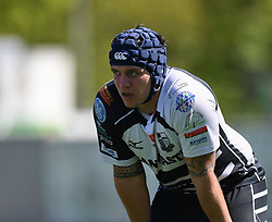Pontypridd's Jake Thomas<br /> Pontypridd RFC v Cardiff RFC<br /> <br /> Photographer Mike Jones / Replay Images<br /> Sardis Road, Pontypridd.<br /> Wales - 5th May 2018.<br /> <br /> Pontypridd RFC v Cardiff RFC<br /> Principality Premiership<br /> <br /> World Copyright © Replay Images . All rights reserved. info@replayimages.co.uk - http://replayimages.co.uk