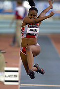 Vanitta Kinard was fourth in the women's triple jump at 44-7 1/2 (13.60m) in the USA Track & Field Indoor Championships at Reggie Lewis Track & Athletic Center at Roxbury Community College on Saturday, Feb. 28, 2004 in Roxbury Crossing, Mass.