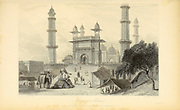 Mosque At Muttra, Uttar Pradesh, India From the book ' The Oriental annual, or, Scenes in India ' by the Rev. Hobart Caunter Published by Edward Bull, London 1835 engravings from drawings by William Daniell