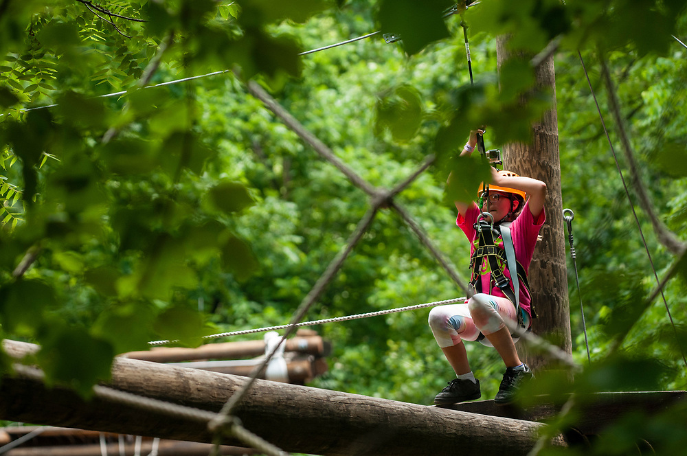 The ropes course at the Nantahala Outdoor Center in Bryson City, NC on Thursday, June 29, 2017. Copyright 2017 Jason Barnette