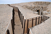 Israel, Arava, military stronghold, Fortified trenches on the Jordanian border