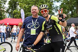 Ales Galof and Luka Mezgec (SLO) of Mitchelton - Scott during 1st Stage of 26th Tour of Slovenia 2019 cycling race between Ljubljana and Rogaska Slatina (171 km), on June 19, 2019 in  Slovenia. Photo by Matic Klansek Velej / Sportida