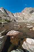Morning view of Sky Pond, Rocky Mountain National Park, Colorado.