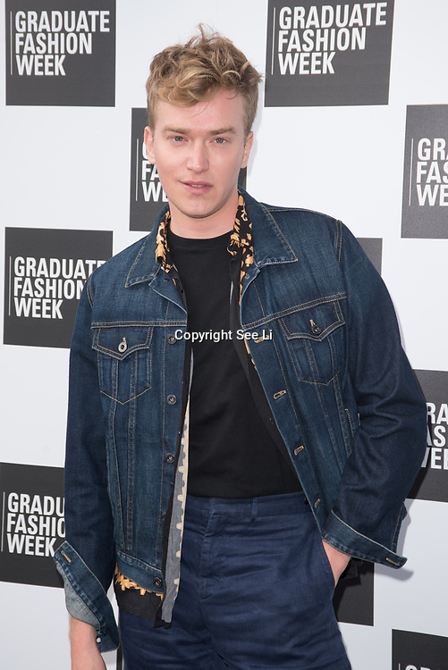 Fletcher Cowan arriver at the Graduate Fashion Week 2018, June 6 2018 at Truman Brewery, London, UK.