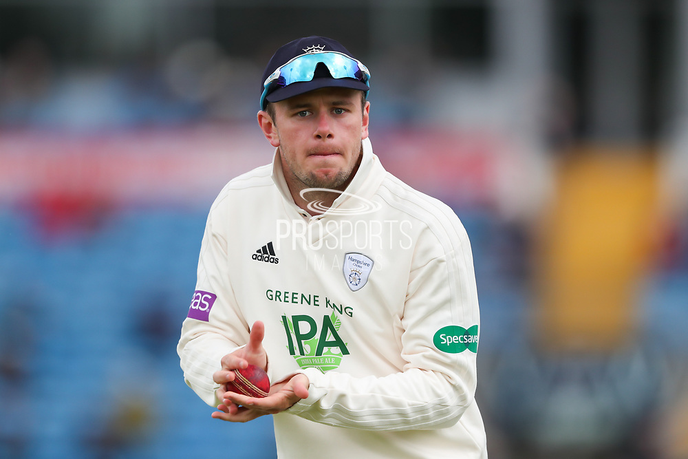 Mason Crane of Hampshire during the opening day of the Specsavers County Champ Div 1 match between Yorkshire County Cricket Club and Hampshire County Cricket Club at Headingley Stadium, Headingley, United Kingdom on 27 May 2019.