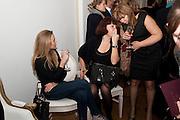 TATIANA STEBANOVA; LILIYA RULNOLDS,  THE LAUNCH OF THE KRUG HAPPINESS EXHIBITION AT THE ROYAL ACADEMY, London. 12 December 2011.