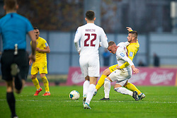 Janez Pisek of Domzale and Gaber Petric of Triglav during football match between NK Domzale and NK Triglav in Round #18 of Prva liga Telekom Slovenije 2019/20, on November 23, 2019 in Sports park Domzale, Slovenia. Photo by Sinisa Kanizaj / Sportida