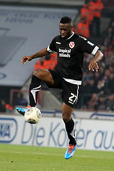 07.03.2014, Rhein- Energie Stadion, Koeln, GER, 2. FBL, 1. FC Koeln vs FC Energie Cottbus, 24. Runde, im Bild Boubacar Sanogo (FC Energie Cottbus #27), Aktion, Action // during the 2nd German Bundesliga 24th round match between 1. FC Cologne and FC Energie Cottbus at the Rhein- Energie Stadion in Koeln, Germany on 2014/03/07. EXPA Pictures © 2014, PhotoCredit: EXPA/ Eibner-Pressefoto/ Schueler<br /> <br /> *****ATTENTION - OUT of GER*****