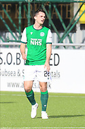 Stephen McGinn (22) of Hibernian during the Betfred Scottish League Cup match between Cove Rangers and Hibernian at Balmoral Stadium, Aberdeen, Scotland on 10 October 2020.