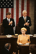 Queen Elizabeth ii speaks to the House of Representatives on May 9 1991..Photograph by Dennis Brack bb24
