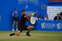 June 24, 2017 - London, United Kingdom - Grigor Dimitrov of Bulgaria plays the semi final of AEGON Championships at Queen's Club, London, on June 24, 2017. (Credit Image: © Alberto Pezzali/NurPhoto via ZUMA Press)
