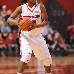 Feb 24, 2009; Piscataway, NJ, USA; Rutgers guard Epiphanny Prince (10) looks for an open pass during the first half of Rutgers' 71-53 victory over Cincinnati at the Louis Brown Athletic Center.
