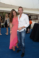 The Johnnie Walker Blue Label and David Gandy Drinks Reception aboard John Walker & Sons Voyager, St.Georges Stairs Tier, Butler's Wharf Pier, London, UK on 16th July 2013.<br /> Picture Shows:-Alexandra Bowes-Lyon and Jacobi Anstruther-Gough-Calthorpe.