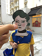 EXCLUSIVE PHOTO FEATURE:<br /> <br /> Painting Characters by Lorenzo Castellini<br /> <br /> Brazilian based artist, Lorenzo Castellini, lives in one of the world's craziest cities, Sao Paulo. Castellini likens it to being trapped in one of Hieronymous Boschís paintings. In fact, this is the art that imaginative artist creates. He cuts out characters and images from Bosschís paintings and ëtakes Bosch for a walkí around town and places the characters in surreal scenes.<br /> <br /> In doing so, many other artists came into Castelliniís mind in which he could also create art, like Van Gogh, Matisse and Basquiat. He has come up with how own term for the art he produces, ëAir Collageí. This is any composition created by the juxtaposition of any form or shape into the subject without physical contact between them.<br /> <br /> ìYou have to get time, space, angle, distance and the right opportunity to create an interesting air collage. It looks easy but it is quite hard to get it just right. The main idea is to bring the old masters back to the future and make them do what they did best having fun and puzzling people says Castellini.<br /> ©IMP/Exclusivepix Media