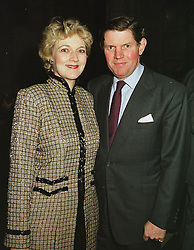MR & MRS IAN SHACKLETON she is the top lawyer Fiona Shackleton, at a reception in London on 1st March 1999.MOW 38