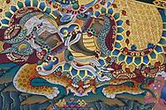 Wall Painting in the Tibetan Lamaistic Buddhist Songtsam Monastery, Shangri-La or Xianggelila,  Zhongdian County, Yunnan, China