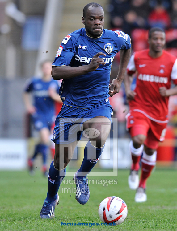 Picture by Alan Stanford/Focus Images Ltd +44 7915 056117.27/04/2013.Jean-Yves M'Voto of Oldham Athletic during the npower League 1 match at the Matchroom Stadium, London.. .