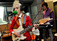Beth Jeans Houghton performs a live session on the BBC Radio 6 Music Radcliffe & Maconie show at Media City, Manchester.