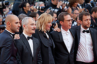 Mohamed Diab, Karel Och, Uma Thurman, Reda Kateb and Joachim Lafosse at Based on a True Story (D'apres Une Histoire Vraie) gala screening at the 70th Cannes Film Festival Saturday 27th May 2017, Cannes, France. Photo credit: Doreen Kennedy
