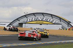 June 16, 2018 - Le Mans, FRANCE - 52 AF CORSE (ITA) FERRARI 488 GTE EVO GTE PRO TONI VILANDER (FIN) ANTONIO GIOVINAZZI (ITA) LUIS FELIPE DERANI  (Credit Image: © Panoramic via ZUMA Press)