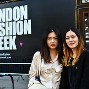 Nastya dose. @nastyadosel attend London Fashion Week SS19 street photography at the Strand, London, UK. 17 September 2018.