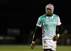 Connacht's Niyi Adeolokun<br /> <br /> Photographer Simon King/Replay Images<br /> <br /> Guinness Pro14 Round 9 - Cardiff Blues v Connacht Rugby - Friday 24th November 2017 - Cardiff Arms Park - Cardiff<br /> <br /> World Copyright © 2017 Replay Images. All rights reserved. info@replayimages.co.uk - www.replayimages.co.uk