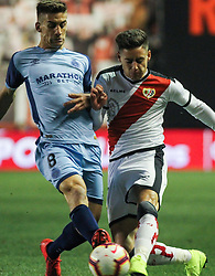 March 1, 2019 - Madrid, Madrid, Spain - Alex Moreno of Rayo Vallecano and Pere Pons of Girona in action during La Liga Spanish championship, , football match between Rayo Vallecano and Girona , March 01th, in Estadio de Vallecas in Madrid, Spain. (Credit Image: © AFP7 via ZUMA Wire)