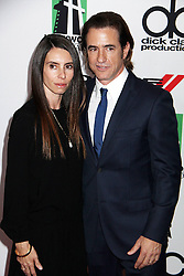 21.10.2013, Beverly Hilton Hotel, Beverly Hills, USA, Annual Hollywood Film Awards Gala, im Bild Tharita Cutulle, Dermot Mulroney // Tharita Cutulle, Dermot Mulroney during a photoshooting for the 17th Annual Hollywood Film Awards Gala held at the Beverly Hilton Hotel in Beverly Hills, United States on 2013/10/23. EXPA Pictures © 2013, PhotoCredit: EXPA/ Photoshot/ Photoshot/ Izumi Hasegawa<br /> <br /> *****ATTENTION - for AUT, SLO, CRO, SRB, BIH, MAZ only*****