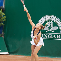 Agnes Szavay (HUN) pictured loosing against Andraja Klepac (SLO) (not pictured) during the Gaz de France Grand Prix international women tennis competition held at Roman Tennis Academy in Budapest. Hungary. Wednesday, 09. July 2008. ATTILA VOLGYI
