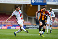 Scunthorpe United Abo Eisa (11) plays a pass during the EFL Sky Bet League 2 match between Bradford City and Scunthorpe United at the Utilita Energy Stadium, Bradford, England on 1 May 2021.