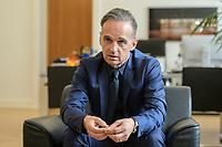 24 JUL 2020, BERLIN/GERMANY:<br /> Heiko Maas, SPD, Bundesaussenminister, waehrend einem Interview, in seinem Buero, Auswaertiges Amt<br /> IMAGE: 20200724-01-022<br /> KEYWORDS: Buero