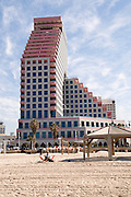 Israel, Tel Aviv The Opera Tower in Allenby street on the sea front Winter February 2008