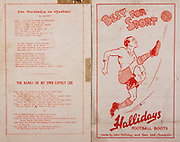 All Ireland Senior Hurling Championship Final,.Brochures,.03.09.1944, 09.03.1944, 3rd September 1944, .Cork 2-13, Dublin 1-2, .Senior Cork v Dublin, .Croke Park, ..Songs, Dan Mairseala Na NGaeldeal, The Banks of My Own Lovely Lee, ..Advertisements, Hallidays Football Boots,