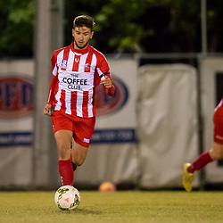 BRISBANE, AUSTRALIA - JUNE 16:  during the NPL Queensland U18 Boys Round 14 match between Olympic FC and Western Pride at Goodwin Park on June 16, 2017 in Brisbane, Australia. (Photo by Patrick Kearney/Olympic FC)
