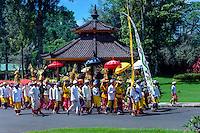 Bali, Tabanan, Bedugul. The Bedugul Botanical Garden (Eka Karya Botanical Garden) was established in 1959. A hindu celebration.
