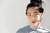 Portrait of a beautiful asian woman.