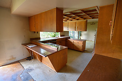 March 28, 2019 - Rossmoor, California, U.S. - Kitchen in a home the Orange County Public Administrator is auctioning at 2902 Angler Lane in Rossmoor, CA, on Wednesday, March 28, 2019. The home is one of seven the county will auction this weekend. Bidders will have to come armed with $10,000 cashier checks. (Credit Image: © Jeff Gritchen/SCNG via ZUMA Wire)