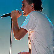 NLD/Rotterdam/20110422 - Concert Single's Only van Kane, zanger Dinand Woesthoff