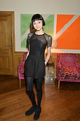 Model DOUG (Sarah Douglas) who appears in The Chase at a screening of the short film The Chase hosted by Jade Parfitt at The Soho Hotel, 4 Richmond Mews, Soho, London on 22nd February 2015.