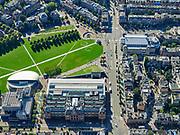 Nederland, Noord-Holland, Amsterdam, 02-09-2020; Amsterdam-Zuid, Museumplein.  Stedelijk Museum en Van Gogh museum aan de Paulus Potterstraat. Aan de Van Baerlestraat het Concertgebouw.<br /> <br /> luchtfoto (toeslag op standard tarieven);<br /> aerial photo (additional fee required);<br /> copyright foto/photo Siebe Swart